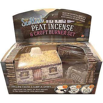 Scottish Peat Incense & Croft Burner Set by The Turf Peat Incense Company