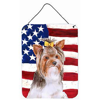 Yorkshire Terrier #2 patriottische muur of deur hangen Prints