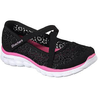 Skechers jenter Skech Flex 2.0 skjegg Crochetes Casual Mary Jane sko