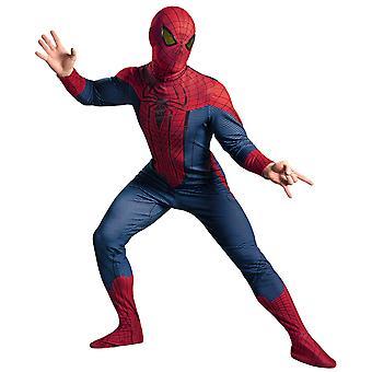 الرجل العنكبوت مذهلة ديلوكس آعجوبة خارقة فكاهية الاشتراكات الرجال زي XL