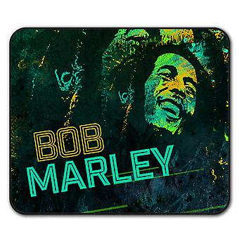 Tapis anti-dérapant Rasta Bob Marley Weed Pad 24 x 20 cm | Wellcoda