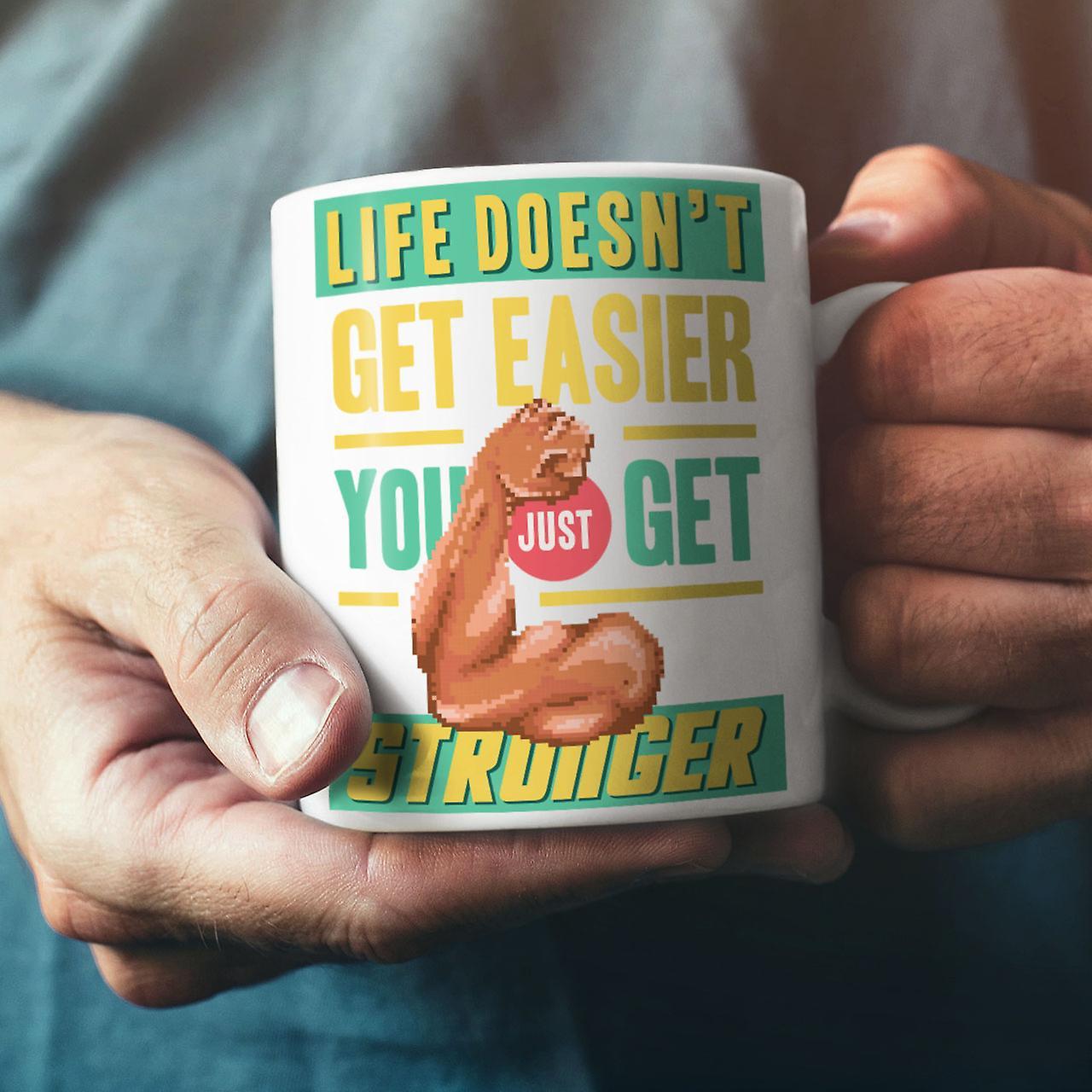 Leben nie einfach neue Weißer Tee Kaffee Keramik Becher 11 oz   Wellcoda