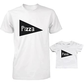 Pizza far og Baby matchende T-Shirts