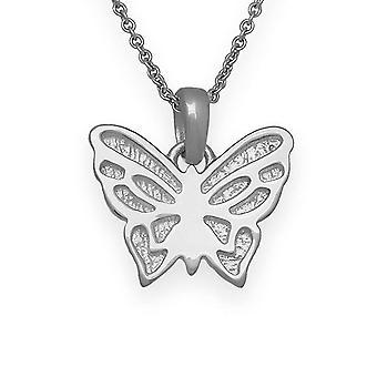 Sterling Silver traditionell skotsk natur i Flight fjäril Hand Crafted halsband hänge