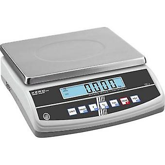 Kern Table top scales Weight range 6 kg Readability 0.05 g mains-powered, rechargeable Silver