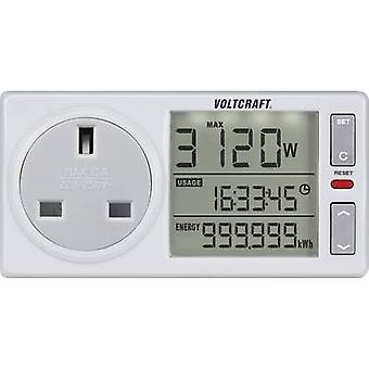 VOLTCRAFT 4500ADVANCED UK Energy consumption meter Selectable energy tariffs, built-in battery buffering, TMRS, Energy cost calculator, backlit display, Alarm