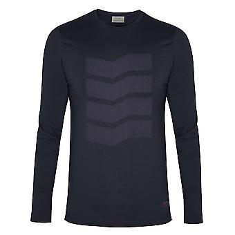 CC Collection Corneliani Navy siksak pitkähihainen T-paita