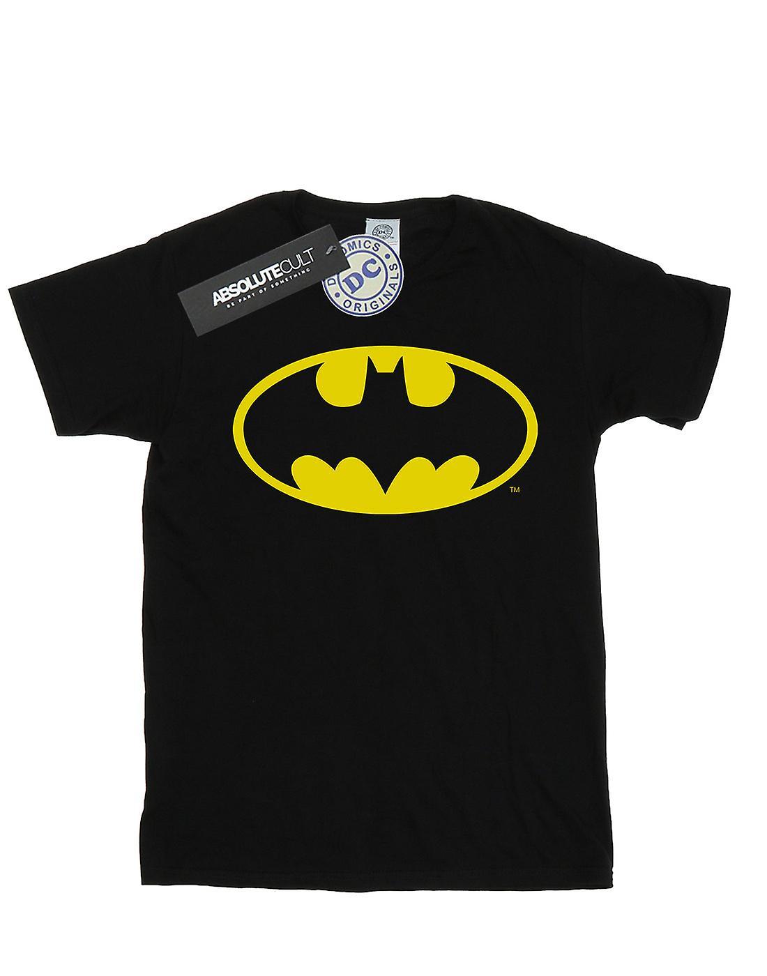 DC Comics Women's Batman Logo Boyfriend Fit T-Shirt