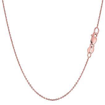 14 k Rose Gold kabel Link kæde halskæde, 0,8 mm