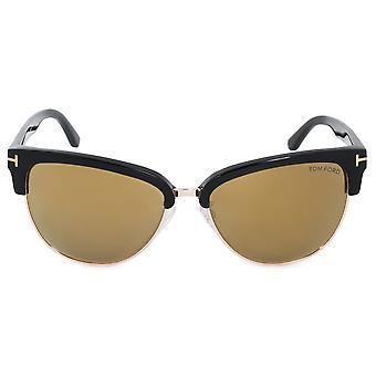 توم فورد فاني القط العين النظارات الشمسية FT0368 01G 59