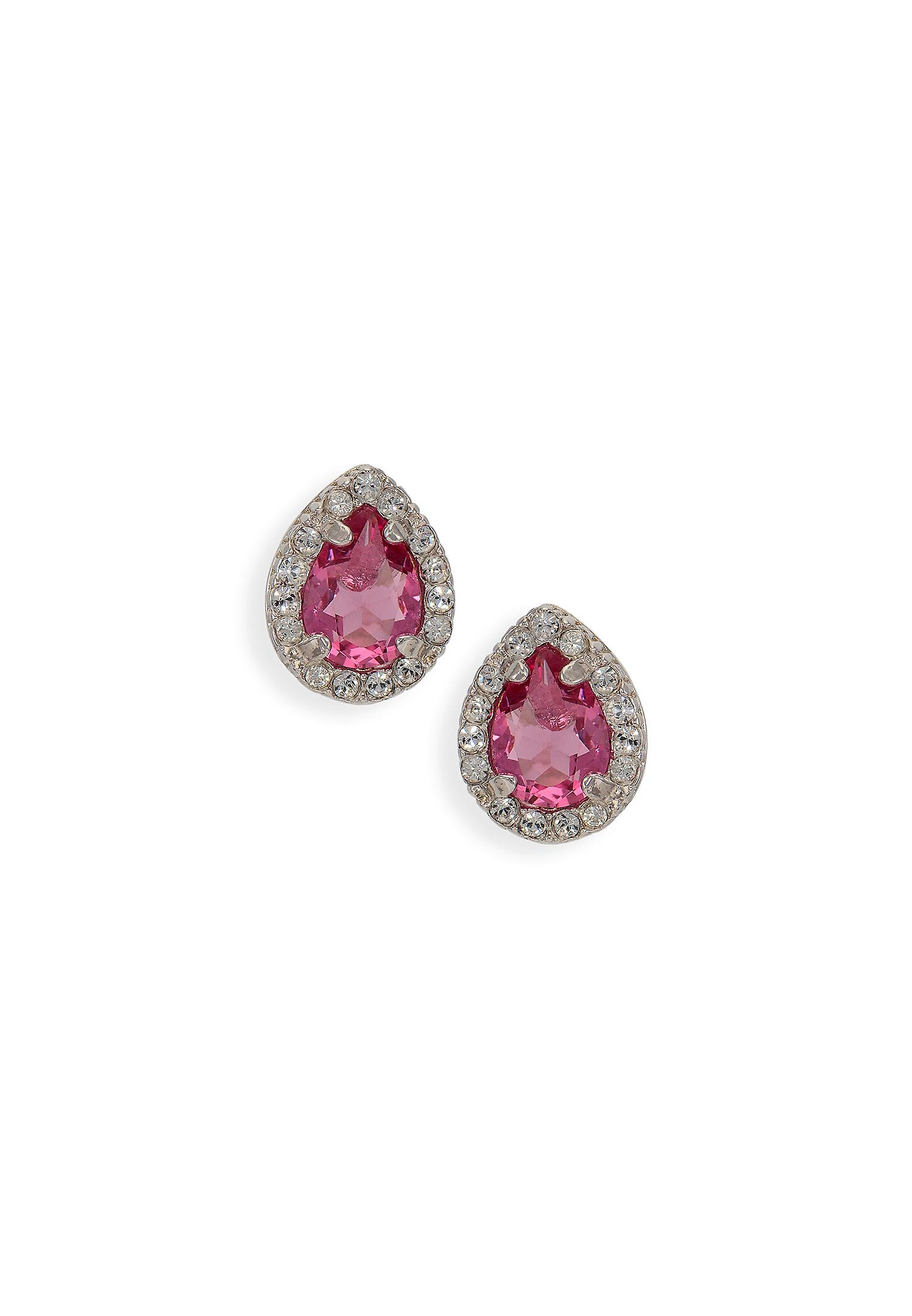 Pink earrings with crystals from Swarovski 513