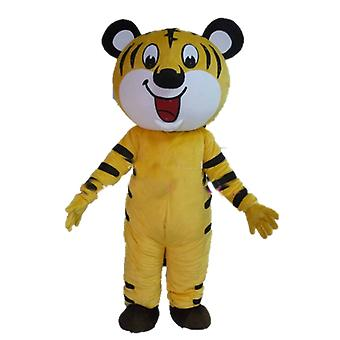SPOTSOUND of yellow, white and black, very friendly Tiger mascot