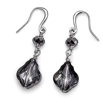 Oliver Weber Earring Song Rhodium, Silver Night