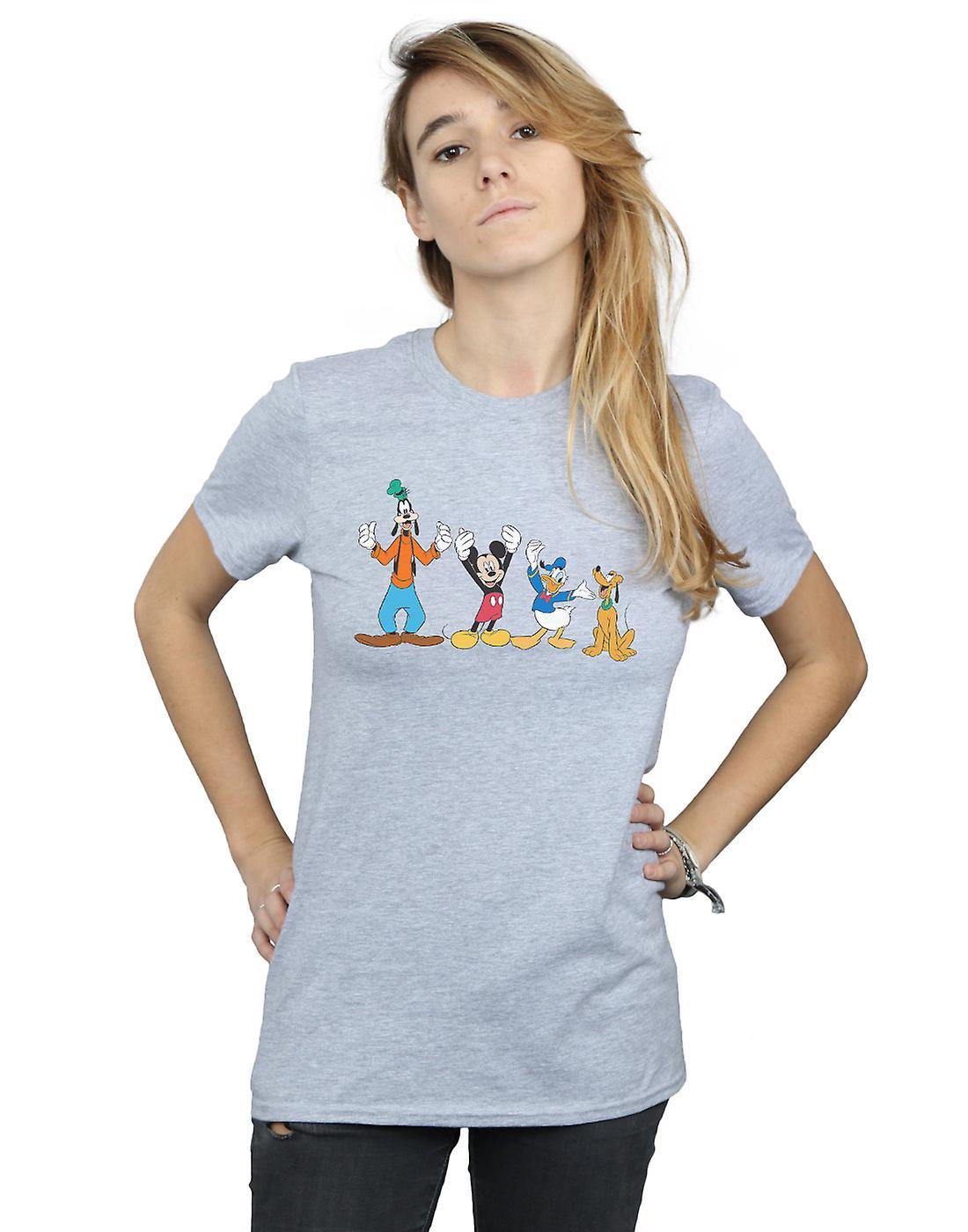 Disney Women's Mickey Mouse Friends Boyfriend Fit T-Shirt