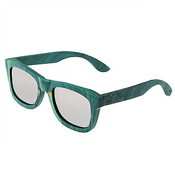 Spectrum Hamilton Wood Polarized Sunglasses - Teal/Silver