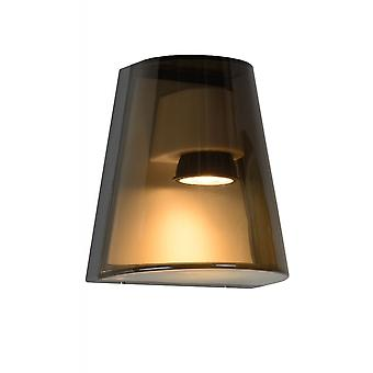 Lucide Freo Modern Aluminum Smoke Grey Wall Light