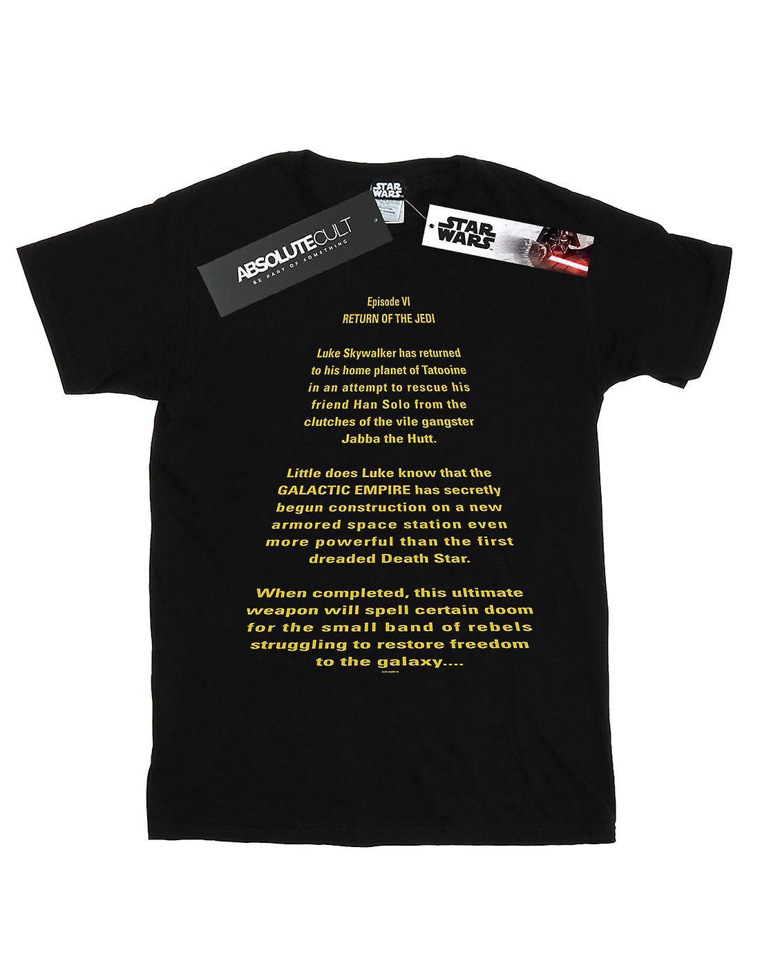 Star Wars Men's Return Of The Jedi Opening Crawl T-Shirt
