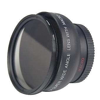 TRIXES 0,45 x breed hoek Camera Lens Macro + CPL filter voor 46mm