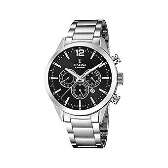 Festina Chronograph quartz men's Watch with stainless steel band F20343/8
