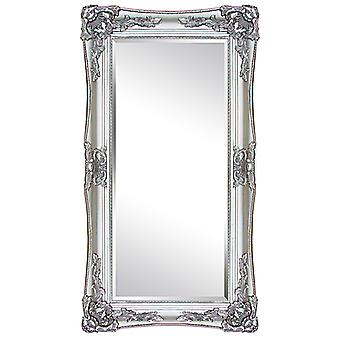Mirror in silver, outer dimensions 104x54 cm