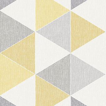 Yellow Scandi Triangle Wallpaper Apex Modern Luxury Abstract Geometric Arthouse