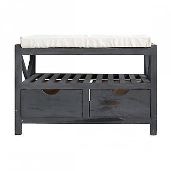 Møbler Rebecca Bench bænk Scarpiera 2 kasser grå vintage retro 43x65x34