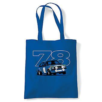 Mk2 Escort RS 78 Rally, Car Tote - Reusable Shopping Canvas Bag Gift