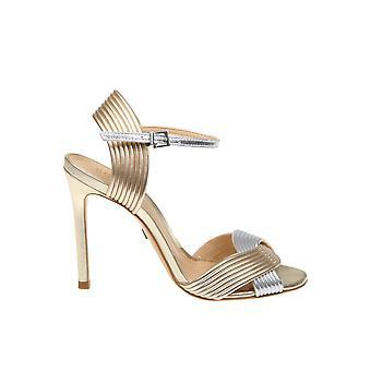 Schutz S2053200470001re Women's Gold Leather Sandals