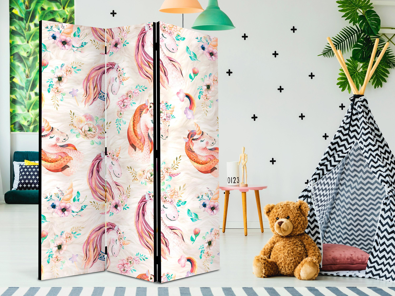 Paravent 3 volets - Pastel Unicorns [Room Dividers]