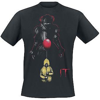Het Unisex volwassenen op de loer Pennywise ballon print T-shirt