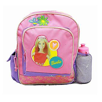 Small Backpack - Barbie - w/ Water Bottle - Purple/Pink New School Bag 14588