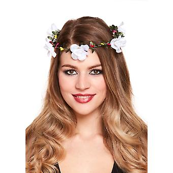 Flower Garland Headband - White