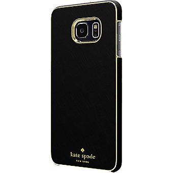 kate spade new york Saffiano Leather Wrap Case for Galaxy S6 edge Plus - Black
