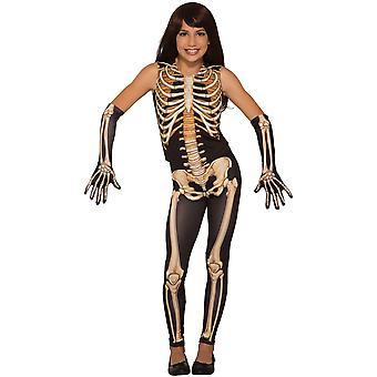 Bristol Neuheit Kinder/Kinder hübsche Knochen Skelett Kostüm