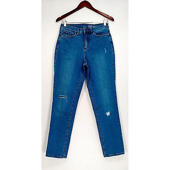 Denim & co. kvinner ' s jeans tall Slim leg blå A344001