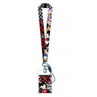 Lanyard - Disney - Mickey & Gang w/Card Holder New 84043