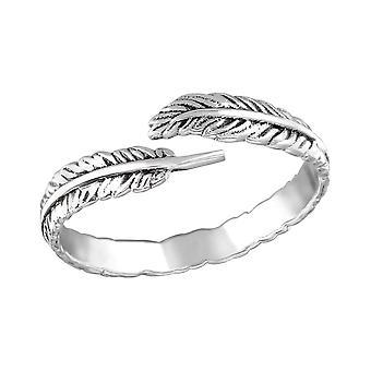 Open Leaf - 925 Sterling Silver Plain Rings - W31414X