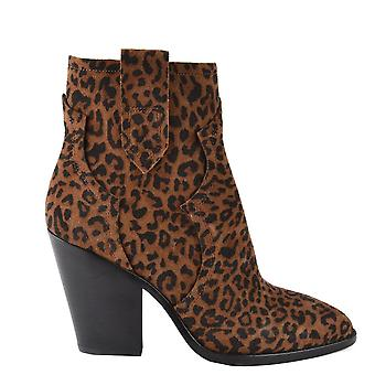 Ash Footwear Esquire Tan Leopard Print Heeled Boot