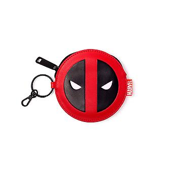 Deadpool Purse Coin Deadpool Face Icon new Marvel Official Red