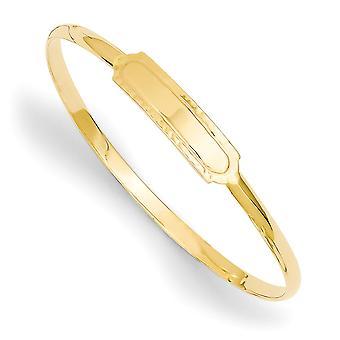14k Deslizamento sólido de ouro amarelo em deslizamento de 2,5 mm polido em pulseira de pulseira baby bangle de 5,5 polegadas