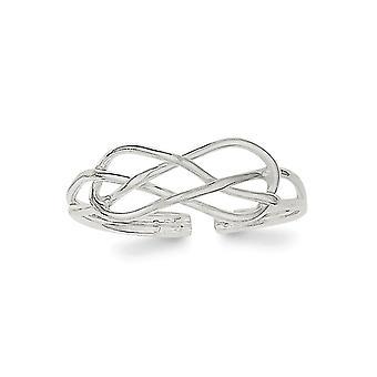 925 Sterling Hopea Solid Toe Ring Korut Lahjat Naisille - 0,8 Grammaa
