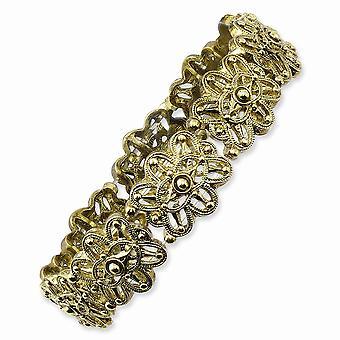Brass tone Stretch Bracelet Jewelry Gifts for Women