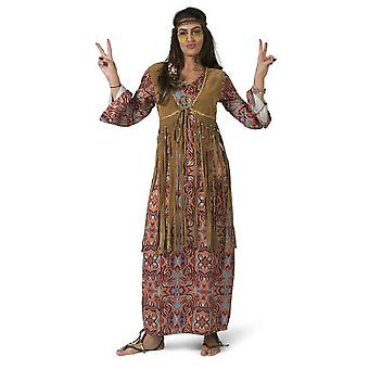 Hippie Dress Maxi Dress Women's Costume 60s Theme Party Carnival Flower Power Costume Ladies