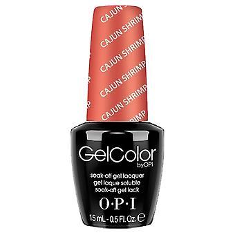 OPI GelColor Gel Color - Soak Off Gel Polish - Cajun Shrimp 15ml (GC L64)
