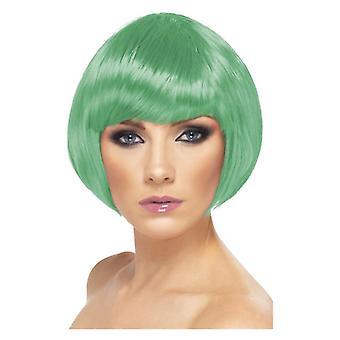 Womens grön knyckte Babe peruk maskeraddräkter tillbehör