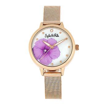 Sophie en Freda Raleigh Parelmoer armband horloge w/Swarovski kristallen-roze