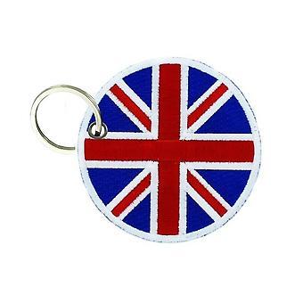 Porte Cle Cles Clef Brode Patch Ecusson Drapeau Cocarde Uk Anglais Union Jack