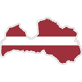 Sticker Sticker Adhesif Vinyl Car Flag Latvia Card
