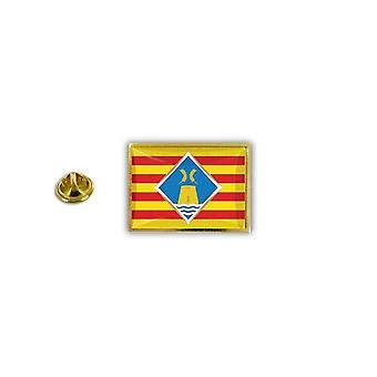Pine Pines rinta nappi PIN epoksi metalli perhonen hyppysellinen lippu Formentera