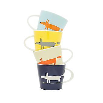 Scion Mr Fox Espresso Cup Set of 4 Grey